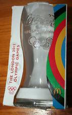 Coca Cola 2012 Olympics Glass London 2012 White ring w/original box