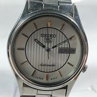 Vintage Seiko Automatic Movement Day Date Dial Mens Analog Wrist Watch AC35