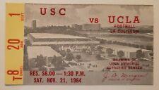 1964 USC Trojans vs. UCLABruins Football Ticket Stub 11/21/64