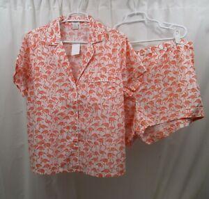 Women's J Crew  Pajamas 2X Flamingos