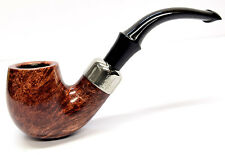 Peterson System Briar Pipe Smooth Finish Medium Bent with a Free Pipe Tool (314)