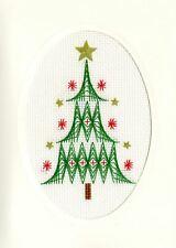Bothy Threads Cross Stitch Card Kit - Christmas Tree