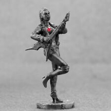 Toy Soldiers Naked Guitar Girl 54mm Unpainted Miniature Female 1/32 scale