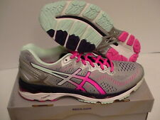 Asics women's gel kayano 23 (2A) width running shoes silver pink glow size 10.5