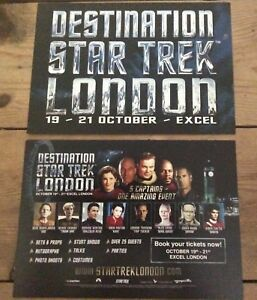 Star Trek Destination London promotional flyer new