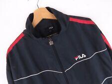AT4510 FILA VINTAGE GIACCA TRACK TOP ORIGINALE Retrò Abbigliamento Sportivo Zip RARA Taglia L