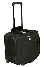 "New High Quality Wheeled 15"" 17"" Laptop Business Flight Pilot Bag Case Briefcase"