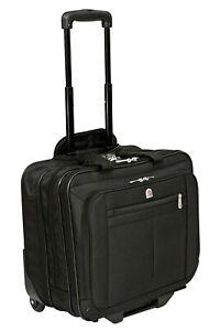 "New High Quality Wheeled 15"" 17"" Laptop Business Flight Pilot Bag Case Briefcase"