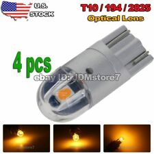 4x Car T10 Yellow LED 3030 2-SMD Wedge Light Bulb W5W 194 168 158 192 2825