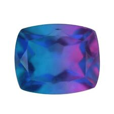 BLUE PURPLE CANDY QUARTZ GENUINE GEMSTONE CUSHION CUT 10MM X 8MM LOOSE GEM 3CT
