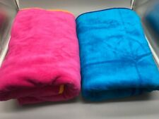 Pair of JGR Copa Turquoise & Hot Pink Beach Towels 100% Cotton