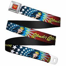"""Dc Wonder Woman Visage Et Logo Ceinture Sécurité Ceinture Boucle (20-36 """")"""