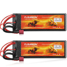 2×7.4V 5200mAh 2S 30C Lipo RC Battery T Plug for RC Car Helicopter Trcuk Hobby