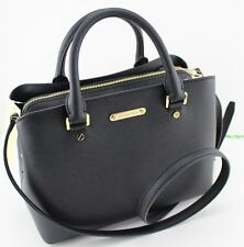 NEW AUTHENTIC MICHAEL KORS SAVANNAH BLACK HANDBAG MD MEDIUM SATCHEL LADIES WOMEN