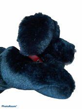 "Aurora  12"" Black Lab Puppy Plush Stuffed Animal Red Collar Dog"
