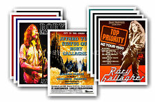 RORY GALLAGHER  - 10 promotional posters - collectable postcard set # 1