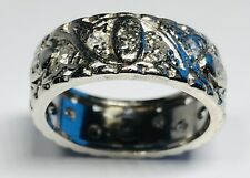 Fine Retro Platinum and 16 Diamonds Ring Size 8