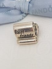 Authentic Pandora Sterling Silver Best Friends Scroll Charm 790512 - Retired
