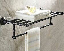 Oil Rubbed Bronze Bathroom Towel Rail Holder Rack Bar Shelf Wall Mounted mba445