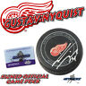 GUSTAV NYQUIST Signed DETROIT RED WINGS OFFICIAL GAME Puck w/COA