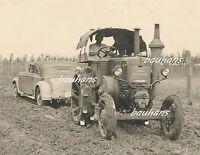 Foto Wehrmacht Traktor-Zugmaschine Lanz Bulldog zieht  Mercedes-Benz  (d630)