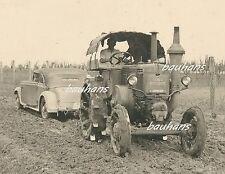 Foto Wehrmacht Traktor-Zugmaschiene Lanz Bulldog zieht  Mercedes-Benz  (d630)