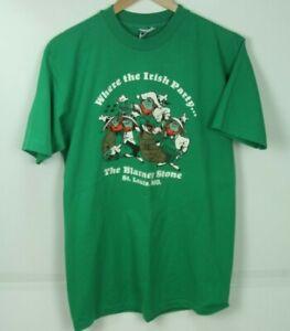 Vintage Blarney Stone Pub St Louis T Shirt Medium Single Stitch St Patricks Day