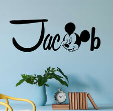 Personalized Name Wall Decal Mickey Mouse Decals Room Boys Nursery Decor DR47