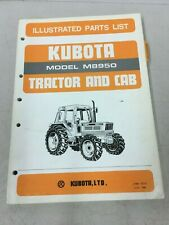 Kubota Tractor And Cab Model M8950 Illustrated Parts List Manual June 1985