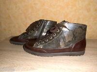 warme bequeme Jenny by ara Sneakers Turnschuh NEU Gr. 8 42 G braun & Nappaleder