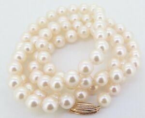 .Auth 6.5mm-7.0mm Blue Lagoon by Mikimoto Cultured Pearl Necklace With 14K Clasp