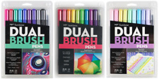 Tombow Dual Brush Pen Art Markers Brush & Fine Tip Sets - Galaxy, Bright, Pastel