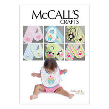 McCall's 6478 Sewing Pattern to MAKE Infants' Bibs and Burp Cloths w/ Appliqués
