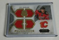 JIRI HUDLER - 2015/16 THE CUP - FOUNDATIONS QUAD JERSEY - #52/75 - FLAMES -