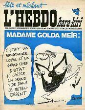 """""""L'HEBDO HARA-KIRI N°88 du 5/10/1970"""" REISER : MADAME GOLDA MEÏR"""