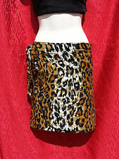 Leopard Print Ladies Wrap Skirt / Sarong Size 6-8-10-12 Over Bathers/Swimwear