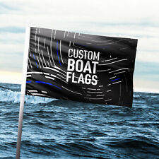 Custom 16inch X 24inch Boat Flag Double Sided With Grommets Premium Top Quality