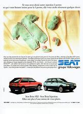 Publicité Advertising 088  1990   la Seat Ibiza  SXI   injection vw