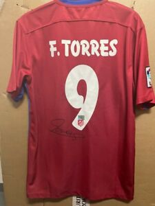 Signed Fernando Torres Atletico Madrid shirt with Coa