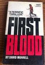 FIRST BLOOD David Morrell 1972 Paperback Edition Fawcett Rambo Series 1st Ed.