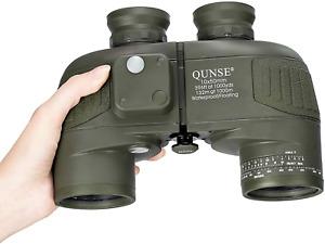 QUNSE BAK4 Nautisches Fernglas 10x50, mit entfernungsmesser - Entfernungsmessen