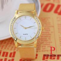 Elégante Montre femme Quartz Strass Bracelet métal Neuve PROMO