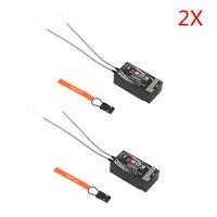 2X S603 6CH 2.4GHz DSM-X DSM2 Spread Receiver For JR Spektrum Dx5e Dx6i Dx7s Dx8