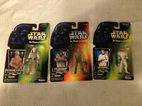 Star Wars Power of the Force Lot of 3 Action Figures Luke Skywalker