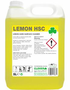 Lemon Hsc Lemon Hard Surface Cleaner 1 x 5L Clover Chemicals Inc Fast P&P