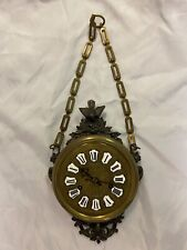 Vintage hanging chain clock, chain length can be adjusted