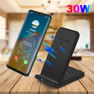 30W/20W/15W Qi Wireless ladegerät Induktive Ladestation Für Apple iPhone/Samsung