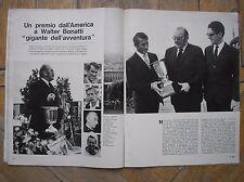 WALTER BONATTI  EPOCA 1971 PREMIO USA ARGOSY GIGANTE DELL'AVVENTURA