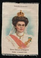 VINTAGE NEBO TOBACCO CIGARETTE SILK QUEEN ELENORE of BULGARIA - EXCELLENT