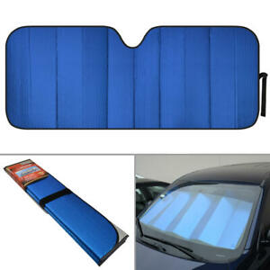 Reflective Blue Foil Car Sun Shade Jumbo Reversible Folding Windshield Cover